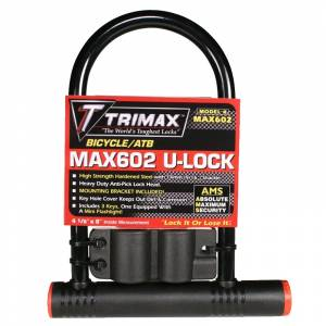 Towing Accessories - Locks - Trimax - Trimax MAX602 Max-Security Bicycle/ATB U-Shackle Lock