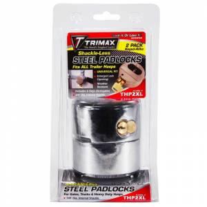 "Towing Accessories - Locks - Trimax - Trimax THP2XL ""Hockey Puck"" Internal Shackle Door Lock - 2 Pack"