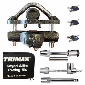Towing Accessories - Locks - Trimax - Trimax TCP50 Universal Keyed Alike Towing Kit