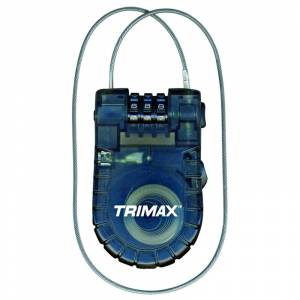 Towing Accessories - Locks - Trimax - Trimax T33RC Retractable 3-Digit Combination Cable Lock