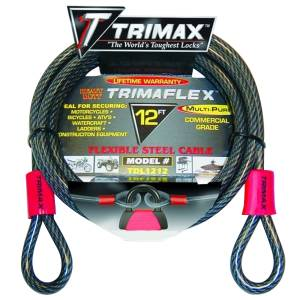Towing Accessories - Locks - Trimax - Trimax TDL1212 Trimaflex Dual Loop Multi-Use Cable