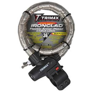 Towing Accessories - Locks - Trimax - Trimax TG2236SX Ironclad Maximum Security Armor Plated Stainless Steel Locking Cables