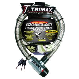 Towing Accessories - Locks - Trimax - Trimax TG3048SX Ironclad Maximum Security Armor Plated Stainless Steel Locking Cables