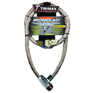 Towing Accessories - Locks - Trimax - Trimax TG3072SX Ironclad Maximum Security Armor Plated Stainless Steel Locking Cables
