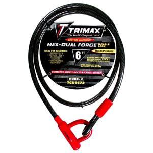 Towing Accessories - Locks - Trimax - Trimax TCU1572 Trimaflex Max-Dual Force U-Shackle Lock
