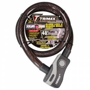 Towing Accessories - Locks - Trimax - Trimax TAL2548 Alarm Lock and Quadra-Braid Cable