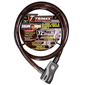 Towing Accessories - Locks - Trimax - Trimax TAL2572 Alarm Lock and Quadra-Braid Cable