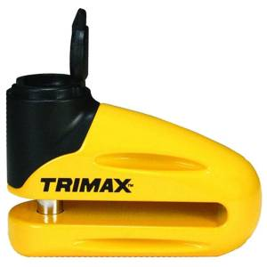 Towing Accessories - Locks - Trimax - Trimax T665LY Hardened Metal Disc Lock with Pouch and Reminder Cable