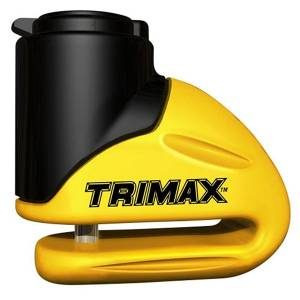 Towing Accessories - Locks - Trimax - Trimax T645S Hardened Metal Disc Lock with Pouch and Reminder Cable