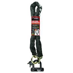 Towing Accessories - Locks - Trimax - Trimax THEX3340 THEX Super Chain with Max40 Disk U-Lock