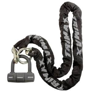 Towing Accessories - Locks - Trimax - Trimax THEX5060 THEX Super Chain with Max60 Disk U-Lock