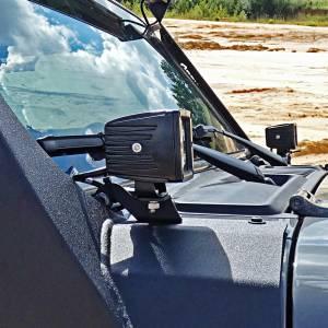 Hammerhead 600-56-0801 A-Pillar Cube Light Brackets for Jeep Gladiator/Wrangler JL 2018-2021