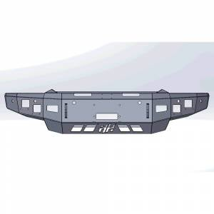 Hammerhead Bumpers - Hammerhead 600-56-0978 X-Series Winch Front Bumper for Dodge Ram 1500 2019-2021