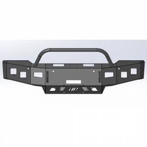 Hammerhead Bumpers - Hammerhead 600-56-0981 X-Series Winch Front Bumper with Pre Runner Guard for Chevy Silverado 1500 2019-2021