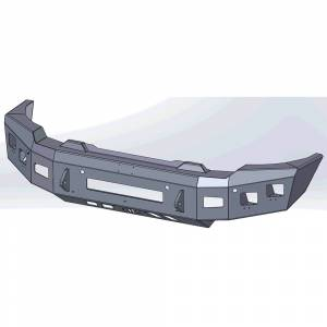 Hammerhead Bumpers - Hammerhead 600-56-1002 Low Profile Front Bumper for GMC Sierra 2500/3500 2020-2022