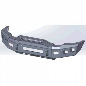 Hammerhead Bumpers - Hammerhead 600-56-1004 Low Profile Front Bumper with Formed Pre Runner Guard for GMC Sierra 2500/3500 2020-2022