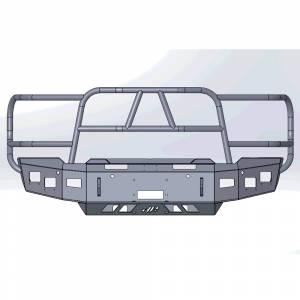 Hammerhead Bumpers - Hammerhead 600-56-1008 X-Series Winch Front Bumper with Full Brush Guard for GMC Sierra 2500/2500HD/3500 2020-2021