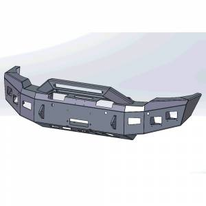 Hammerhead Bumpers - Hammerhead 600-56-1009 X-Series Winch Front Bumper with Formed Pre Runner Guard for GMC Sierra 2500/3500 2020-2022