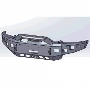 Hammerhead Bumpers - Hammerhead 600-56-1010 X-Series Winch Front Bumper with Pre Runner Guard for Dodge Ram 1500 2019-2021