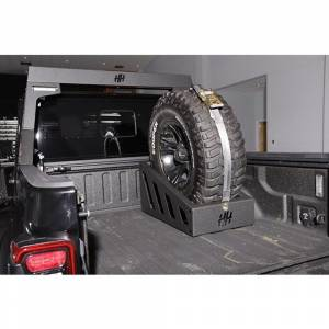 "Exterior Accessories - Tire Carrier and Components - Hammerhead Bumpers - Hammerhead 600-56-0939 35""-37"" In Bed Spare Tire Carrier"