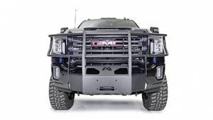 Fab Fours - Fab Fours GM20-N5070-1 Full Guard Winch Mount for GMC Sierra 2500/3500 2020-2021