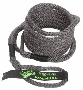 """Recovery Tow Ropes and Winch Lines - VooDoo Offroad Recovery Ropes - VooDoo Offroad - VooDoo Offroad 1300031 1/2"""" x 16' UTV Kinetic Recovery Rope Black"""