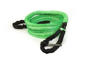 """Recovery Tow Ropes and Winch Lines - VooDoo Offroad Recovery Ropes - VooDoo Offroad - VooDoo Offroad 1300008A 3/4"""" x 20' Truck/Jeep Kinetic Recovery Rope Green with rope bag"""