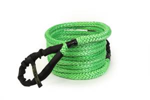 """Recovery Tow Ropes and Winch Lines - VooDoo Offroad Recovery Ropes - VooDoo Offroad - VooDoo Offroad 1300009A 3/4"""" x 30' Truck/Jeep Kinetic Recovery Rope Green with rope bag"""