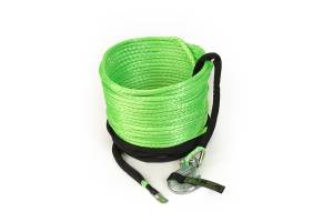 """Recovery Tow Ropes and Winch Lines - VooDoo Offroad Recovery Ropes - VooDoo Offroad - VooDoo Offroad 1400003A 3/8"""" x 80' Truck/Jeep Winch Line Green"""