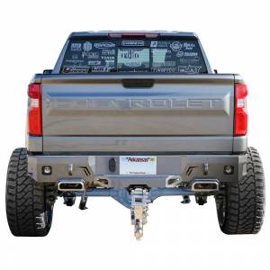 Chassis Unlimited CUB910172 Octane Rear Bumper with Sensor Holes and Dual Exhaust for Chevy Silverado 1500 2019-2022