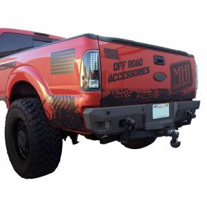Chassis Unlimited CUB910121 Octane Rear Bumper without Sensor Holes for Ford F-250/F-350 1999-2016