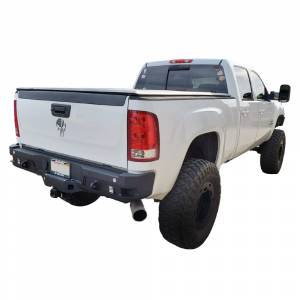 Chassis Unlimited - Chassis Unlimited CUB910302 Octane Rear Bumper with Sensor Holes for GMC Sierra 2500/3500 HD 2015-2019