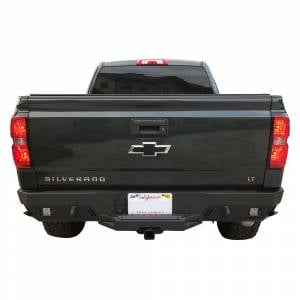 Chassis Unlimited - Chassis Unlimited CUB910381 Octane Rear Bumper without Sensor Holes for Chevy Silverado 2500HD/3500 2015-2019