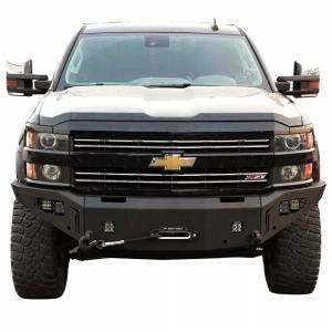 Chassis Unlimited - Chassis Unlimited CUB940382 Octane Winch Front Bumper with Sensor Holes for Chevy Silverado 2500HD/3500 2015-2019