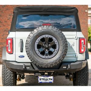 Road Armor 6213R3B Stealth Slim Fit Rear Bumper for Ford Bronco 2021