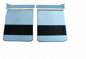 Diamond-Plate Applications - GO Industries - Dodge Truck Diamond Plate Mud Flaps