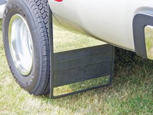 Stainless-Steel Applications - Owens - Dodge Stainless Steel Dually Mud Flaps