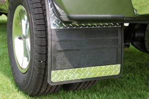 Diamond-Plate Applications - Owens - Dodge Diamond Plate Dually Mud Flaps