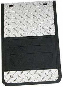 Diamond-Plate Applications - Owens - Universal Fit Diamond Plate Dually Mud Flaps
