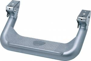 Carr Side Steps and Work Truck Steps - Super Hoop - Super Hoop XP4 Titanium Silver Powder Coat (Pair)