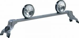 Deluxe Light Bar - Deluxe Light Bar in Titanium Silver Powder Coat - Chevy/GMC