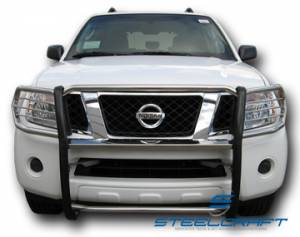 Steelcraft Grille Guards - Stainless Steel - Nissan