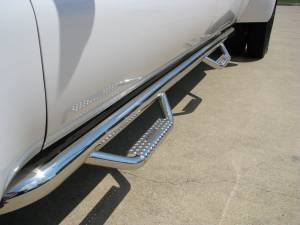 Running Boards and Nerf Bars - N Fab Stainless Steel Nerf steps - Chevy/GMC