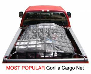 B Exterior Accessories - Cargo Boxes and Racks - SafetyWeb Gorilla Cargo Net | Truck Bed Net