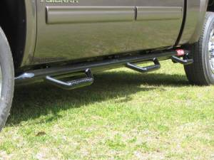 B Exterior Accessories - Running Boards and Nerf Bars - N Fab Bed Access Nerf Steps