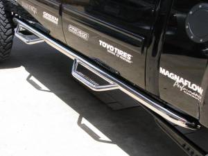 B Exterior Accessories - Running Boards and Nerf Bars - N Fab Stainless Steel Nerf steps