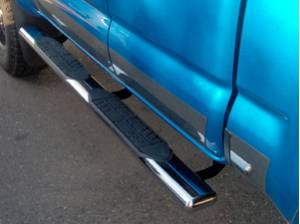 Running Boards and Nerf Bars - ICI Nerf Bars - 5 Inch Oval Cab Length Bars