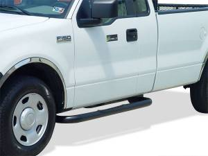 Go Industries Nerf Bars - Cab Length Nerf Bars in Black - GMC