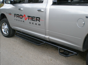 Running Boards and Nerf Bars - Frontier Side Step Bars - Dodge