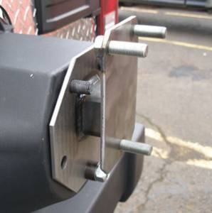 B Exterior Accessories - Tailgates and Tire Carriers - Warrior Tailgate Tire Spacer